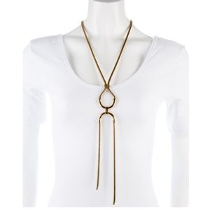 Lanvin Snake Chain Pendant Necklace